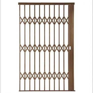 Heavy Duty Framed Aluminium-Gliding Security Gate-1800mm (1.8m)-Bronze.