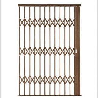 Heavy Duty Alu-Glide Plus Security Gate-2200mm-Bronze.
