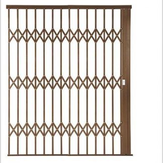 Heavy Duty Framed Aluminium-Gliding Security Gate-2500mm (2.5m Wide)-Bronze.