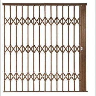 Heavy Duty Framed Aluminium-Gliding Security Gate-3000mm (3m Wide)-Bronze.