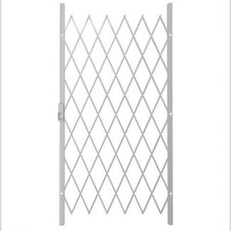 Track Free Swing Slamlock Security Gate- 1000mm(W) x 2000mm(H)-White.