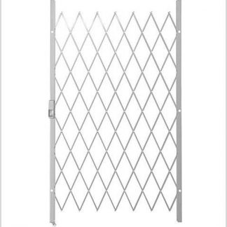 Track Free Swing Slamlock Security Gate- 1150mm(W) x 2000mm(H)-White.