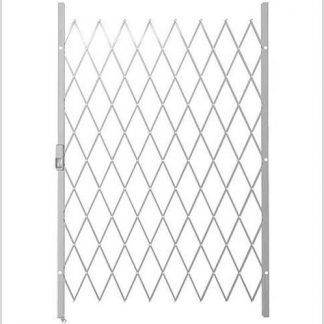 Track Free Swing Slamlock Security Gate- 1300mm(W) x 2000mm(H)-White.