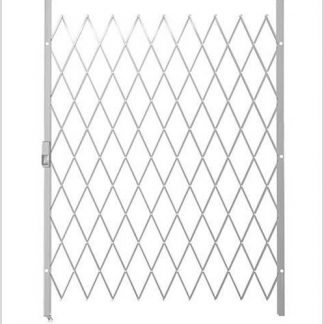 Track Free Swing Slamlock Security Gate- 1600mm(W) x 2000mm(H)-White.