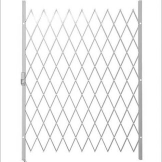 Track Free Swing Slamlock Security Gate- 1800mm(W) x 2000mm(H)-White.