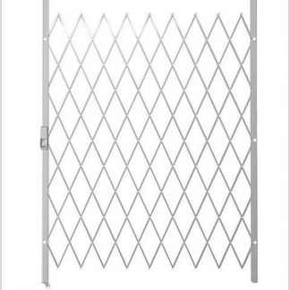 Track Free Swing Slamlock Security Gate- 1950mm(W) x 2000mm(H)-White.