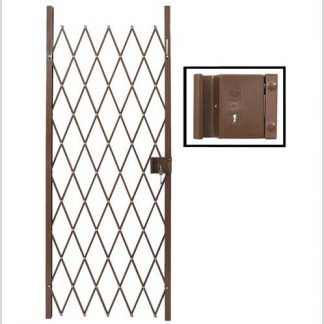 Track Free Swing Slamlock Security Gate- 840mm(W) x 2000mm(H)-Bronze.