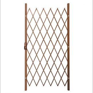 Track Free Swing Slamlock Security Gate- 1000mm(W) x 2000mm(H)-Bronze.