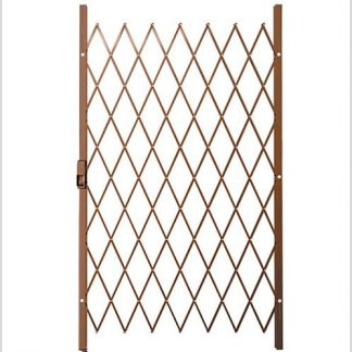 Track Free Swing Slamlock Security Gate- 1150mm(W) x 2000mm(H)-Bronze.