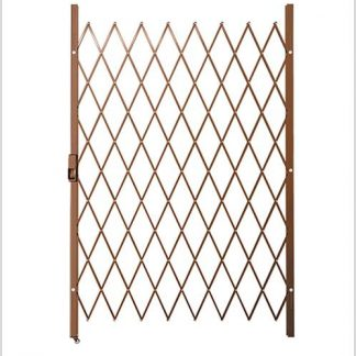 Track Free Swing Slamlock Security Gate- 1300mm(W) x 2000mm(H)-Bronze.