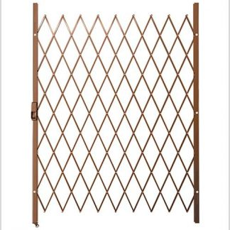 Track Free Swing Slamlock Security Gate- 1450mm(W) x 2000mm(H)-Bronze.