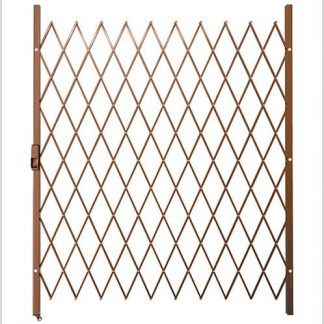 Track Free Swing Slamlock Security Gate- 1600mm(W) x 2000mm(H)-Bronze.