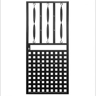 Type 10 Security Gate (Lockable) 2000mm(H) x 810mm(W)-Black.
