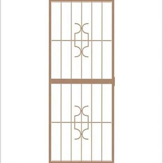 Heavy Duty Homestyle Lockable Security Gate-Bronze.