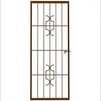 Type 4 Security Gate (Shoot bolt)-1950mm(H) x 770mm(W)-Bronze.