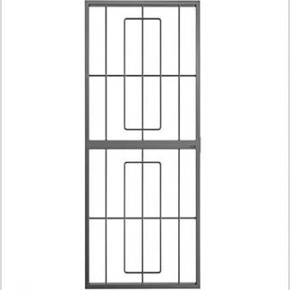 Heavy Duty Ref 34 Lockable Security Gate-Grey.