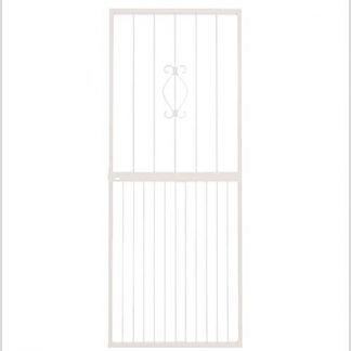 Heavy Duty Regal Lockable Security Gate-White.