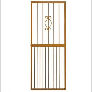 Type 6 Security Gate (Lockable) 1950mm(H) x 770mm(W)-Bronze.