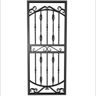 Type 9 Security Gate (Lockable) 2000mm(H) x 810mm(W)-Black.