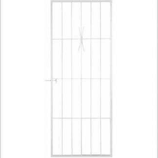 Heavy Duty Sibaya Shootbolt Security Gate-White.