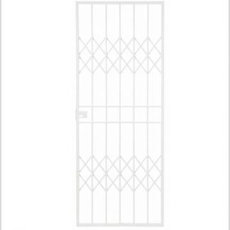 Heavy Duty Trellis-gate Lockable Security Gate-White.