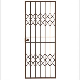 Type 7 Security Gate (Lockable) 1950mm(H) x 770mm(W)-Bronze.