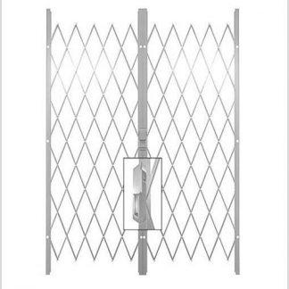 Track Free Swing Slamlock Double Gates-2.2(W)-2.6m(W)2m(H)-White.