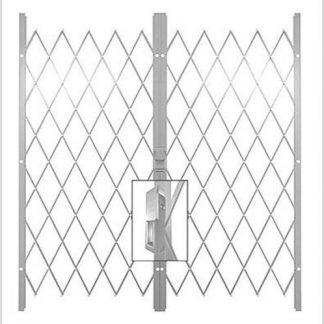 Track Free Swing Slamlock Double Gates- 3.2m(W)-3.9m(W)2m(H)-White.
