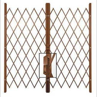 Track Free Swing Slamlock Double Gates-3.2m(W)-3.9m(W)2m(H)-Bronze.
