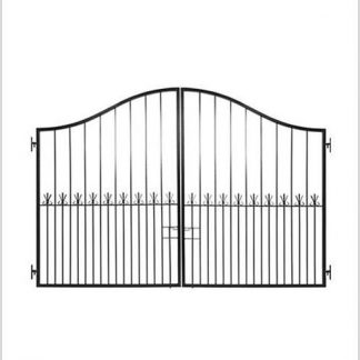 Heavy Duty Ref 19 Driveway Gate Height 1600/2000-Black.