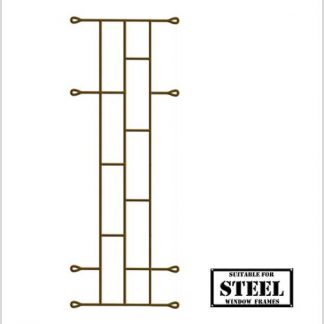 Heavy Duty Brick Burglar Bars for Steel Frames-460mm x 1000mm-Bronze.