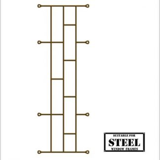 Heavy Duty Brick Burglar Bars for Steel Frames-460mm x 1270mm-Bronze