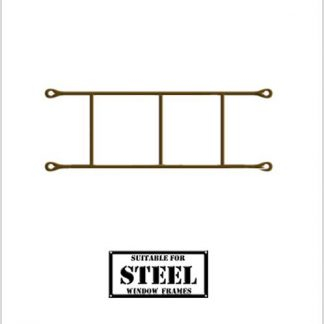 Heavy Duty Brick Burglar Bars for Steel Frames-460mm x 160mm-Bronze.