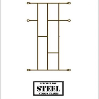 Heavy Duty Brick Burglar Bars for Steel Frames-460mm x 700mm-Bronze