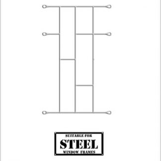 Heavy Duty Brick Burglar Bars for Steel Frames-460mm x 700mm-White