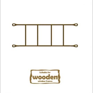 Heavy Duty Brick Burglar Bars for Wooden Frames-530mm x 160mm-Bronze