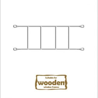 Heavy Duty Brick Burglar Bars for Wooden Frames-530mm x 160mm-White