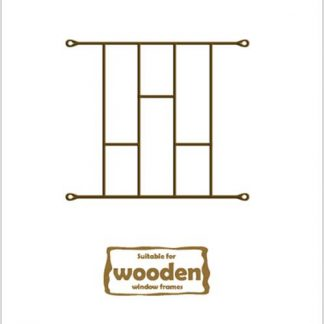 Heavy Duty Brick Burglar Bars for Wooden Frames-530mm x 450mm-Bronze