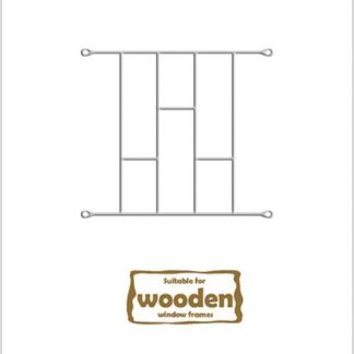 Heavy Duty Brick Burglar Bars for Wooden Frames-530mm x 450mm-White