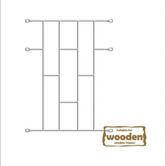 Heavy Duty Brick Burglar Bars for Wooden Frames-530mm x 700mm-White