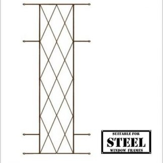 Heavy Duty Diamond Burglar Bars for Steel Frames-460mm x 1000mm-Bronze