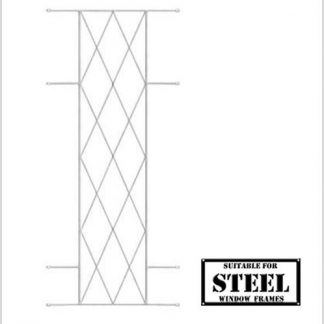 Heavy Duty Diamond Burglar Bars for Steel Frames-460mm x 1000mm-White