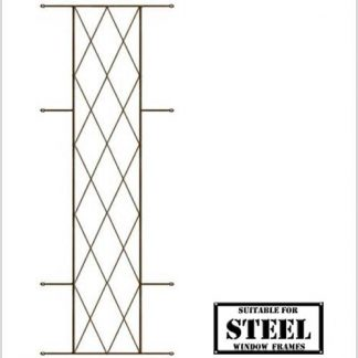 Heavy Duty Diamond Burglar Bars for Steel Frames-460mm x 1270mm-Bronze