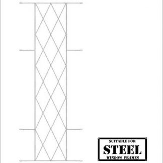Heavy Duty Diamond Burglar Bars for Steel Frames-460mm x 1270mm-White