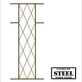 Heavy Duty Diamond Burglar Bars for Steel Frames-460mm x 700mm-Bronze