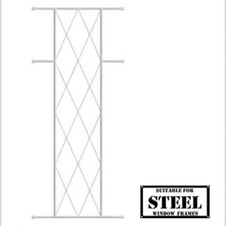 Heavy Duty Diamond Burglar Bars for Steel Frames-460mm x 700mm-White