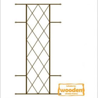 Heavy Duty Diamond Burglar Bars for Wooden Frames-530mm x 1270mm-Bronze