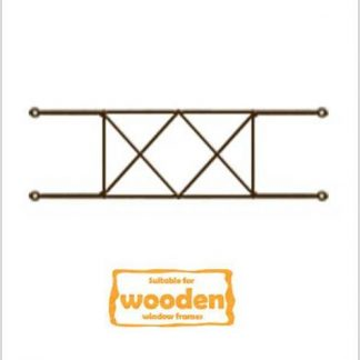 Heavy Duty Diamond Burglar Bars for Wooden Frames-530mm x 160mm-Bronze