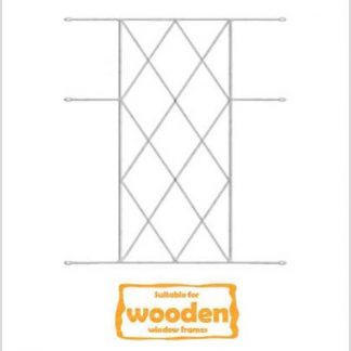 Heavy Duty Diamond Burglar Bars for Wooden Frames-530mm x 700mm-White