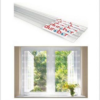 Clear Vision Aluminium Frame Burglar Bars